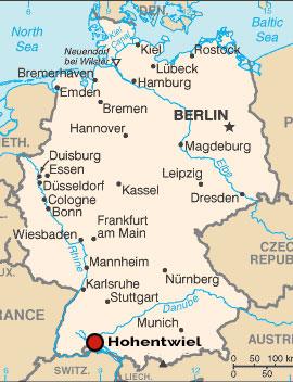 De ligging van Hohentwiel