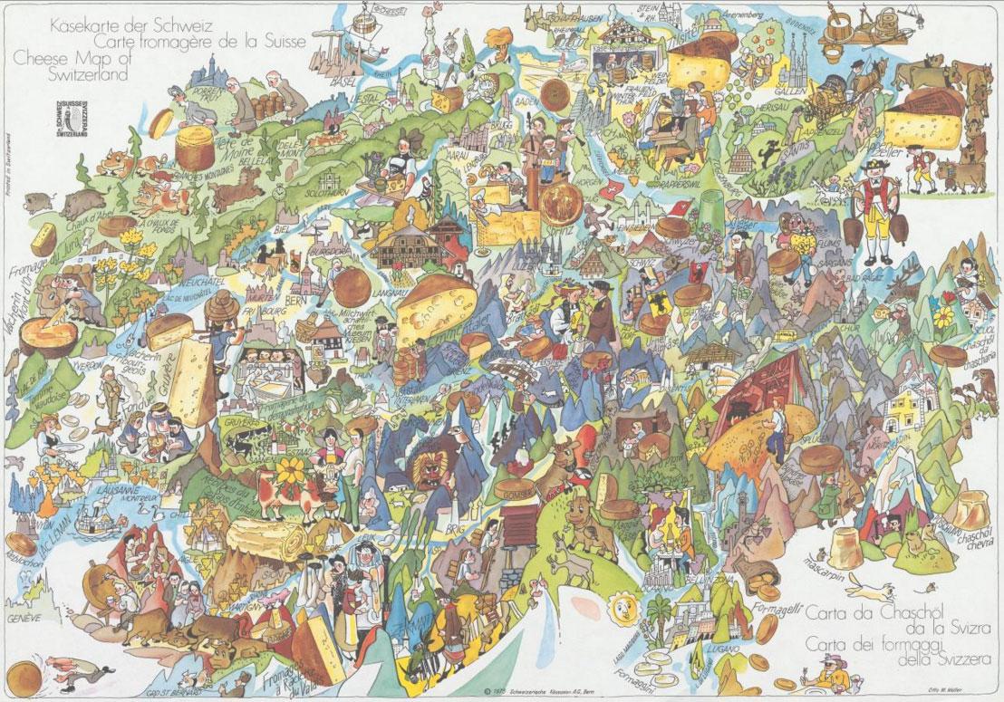 Kaaskaart Zwitserland